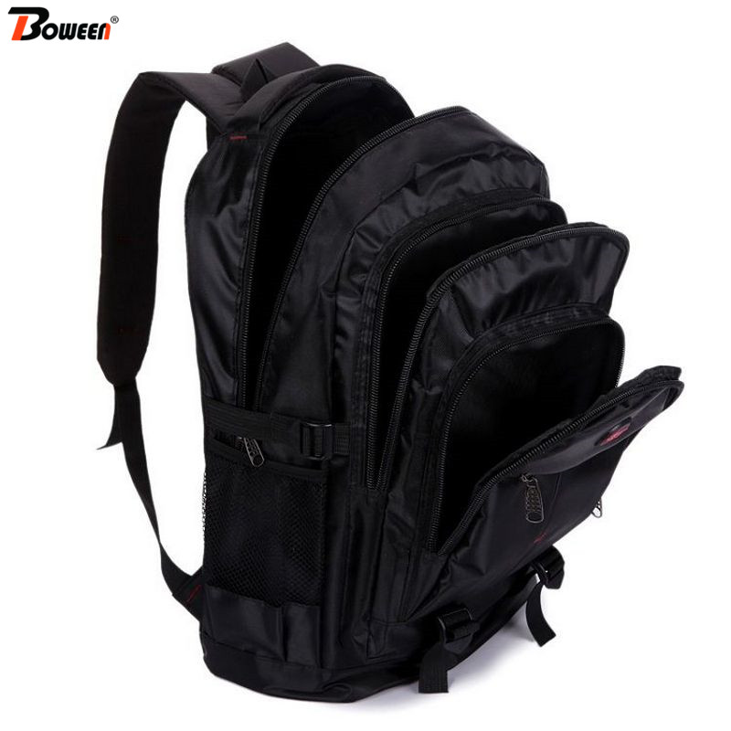 Big Men Backpack Laptop Waterproof Nylon Back Pack For Male Black Large College Sschool Travel Bagpack Multifunctional 2019 New