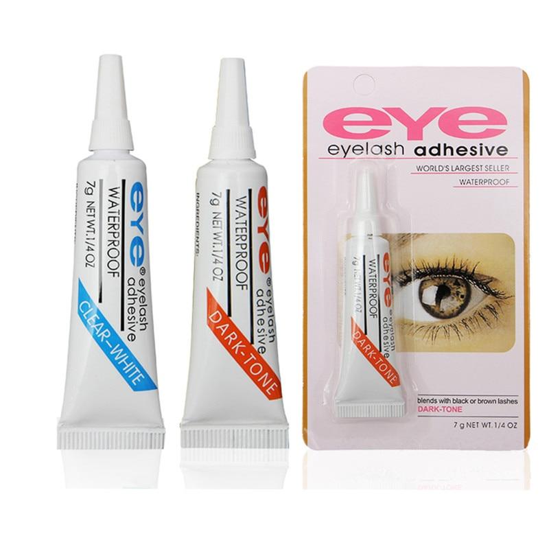 Professional Eyelash Glue Clear white Dark black Waterproof False Eyelashes Makeup Adhesive Eye Lash Glue Cosmetic