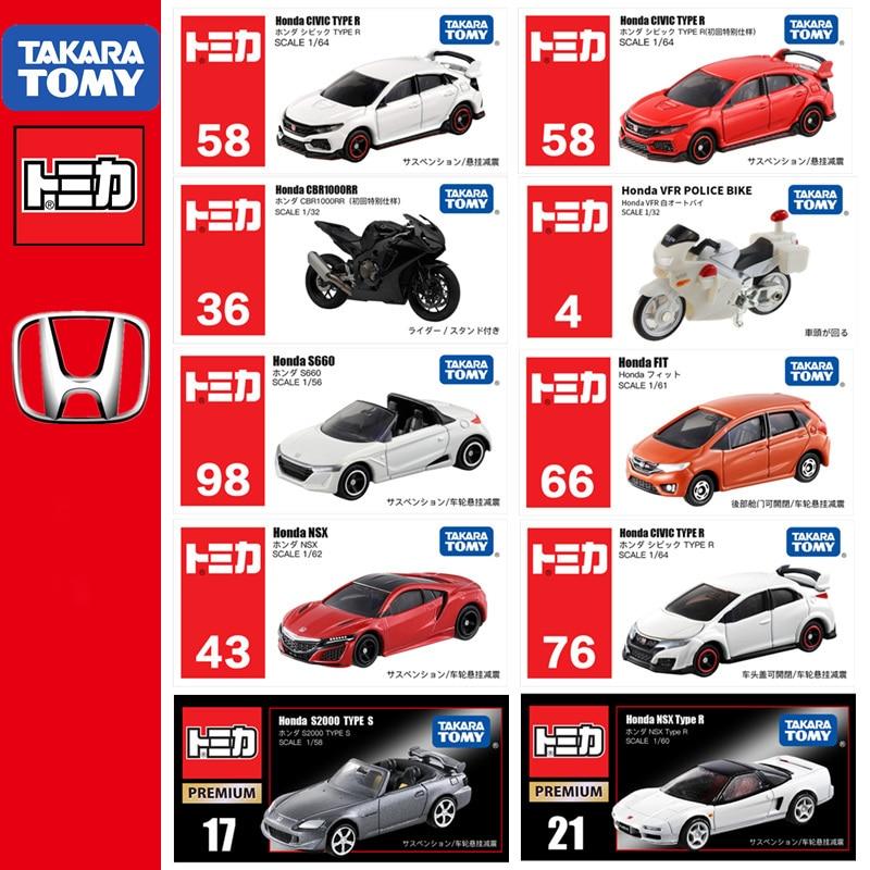 Takara Tomy TOMICA HONDA Series CR-V Fit S660 Civic TYPE R StepWagon NSX Super Cub N K-CAR  RR VFR CR-Z Diecast Car Toy Model
