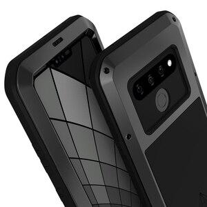 Image 2 - اغلفة ال جي G8S thinQ الفاخرة Doom درع واجب مقاوم للماء للصدمات معدن الألومنيوم غطاء الهاتف ل LG G8s ThinQ ثلاث كاميرات