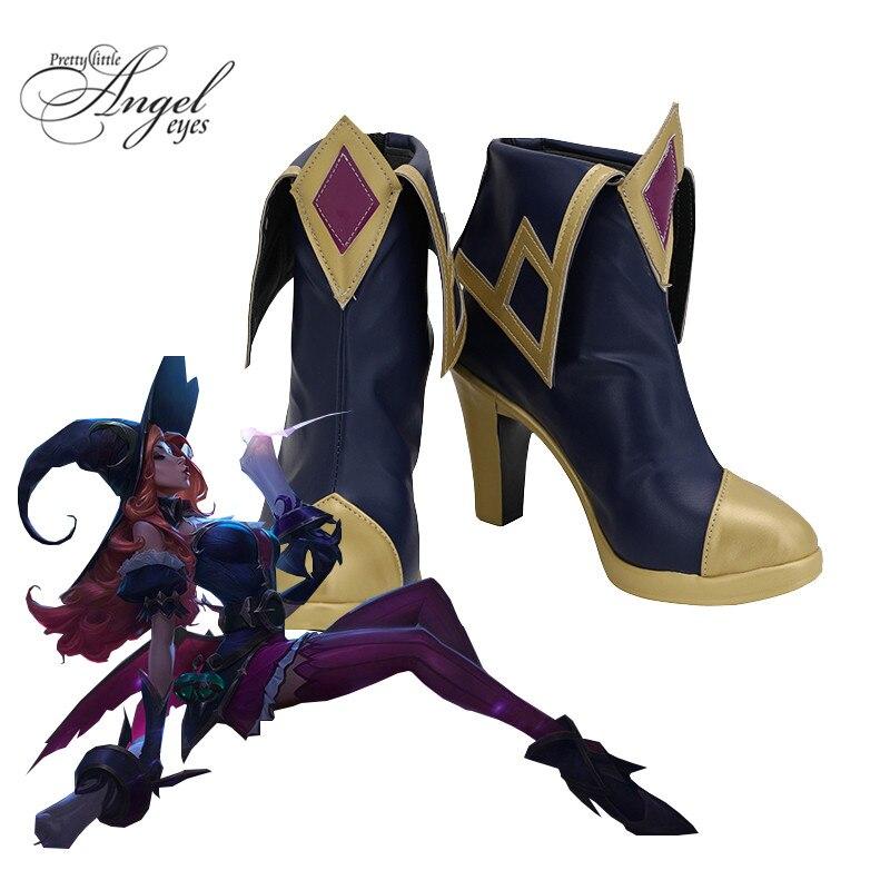 Jeu populaire LOL Halloween le chasseur de primes Miss Fortune Cosplay chaussures Halloween fête sur mesure