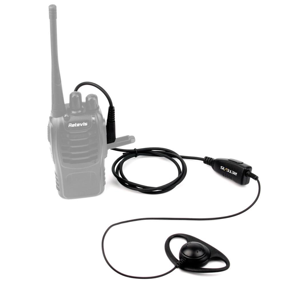Retevis K-316 D Shape 2Pin Soft Ear Hook Earpiece Headset Microphone For Retevis Baofeng Kenwood H-777/RT-5R/RT1/RT2/RT5 /888s