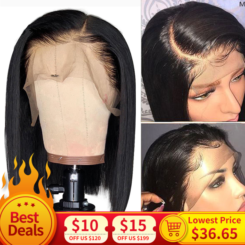 Straight Hair Wig Peruvian Bob Wig MIHAIR 13*4 Lace Front Human Hair Wigs For Black Women Preplucked With Baby Hair Remy Wig