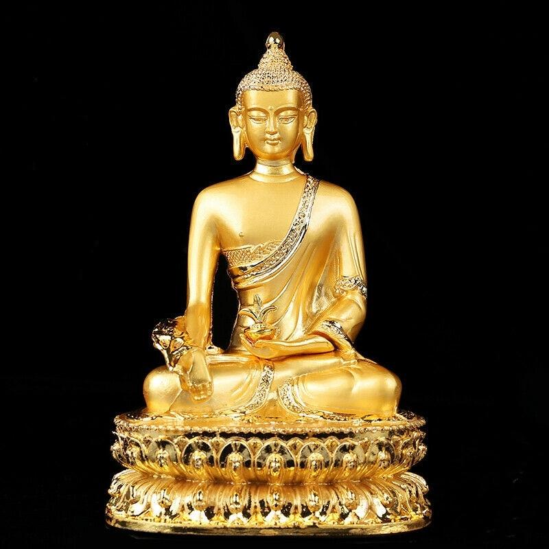Tibetan Buddhism Handmade Old Buddha Statue Alloy Gilt Shakya Muni
