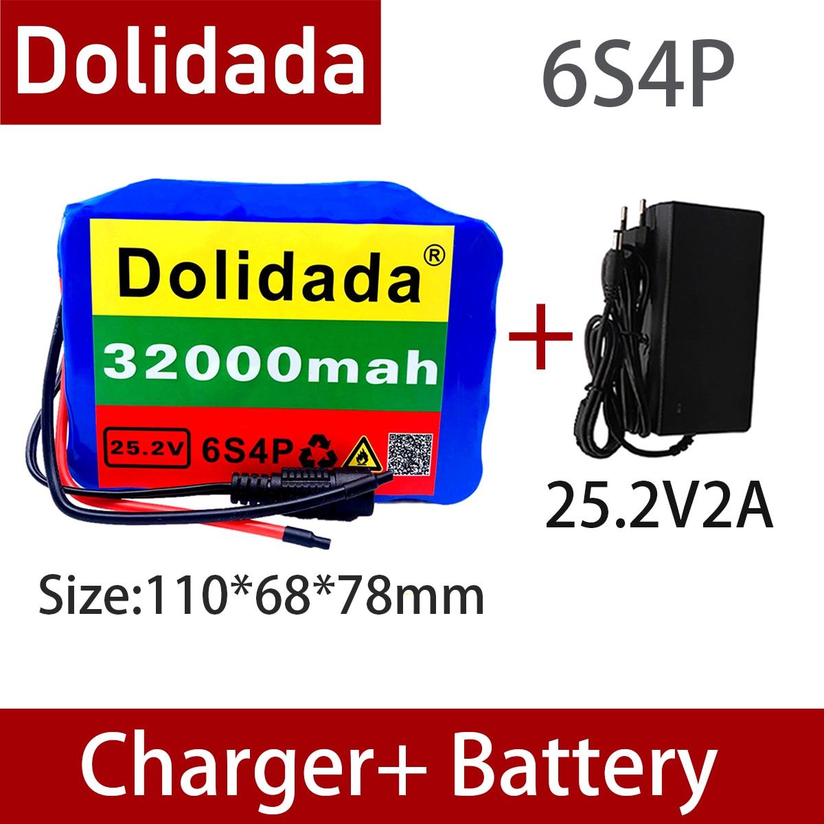 6s4p 24v 32ah 18650 bateria de lítio 25.2v 32000mah bicicleta elétrica ciclomotor/elétrica/li ion bateria com carregador|Pacotes de bateria|   -