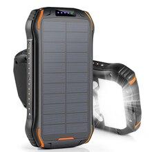 26800mAh Solar Power Bank Portable Wireless Charger External