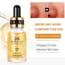 17/15ml 24K GOLD Face Whitening Essence Shrink Pores Anti-wrinkle Moisturizing Anti-Aging Skin care Moisturizer Serum TSLM1