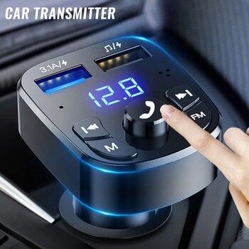 Bluetooth Версия 5,0, свободные руки, FM передатчик, Автомобильный плеер комплект карты автомобиля Зарядное устройство быстрой с QC3.0 Dual USB вольтметр AUX IN вход/выход DC 12 V/24V|FM-трансмиттеры|   | АлиЭкспресс