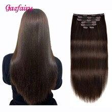 Gazfairy бразильский Реми волос прямой 14