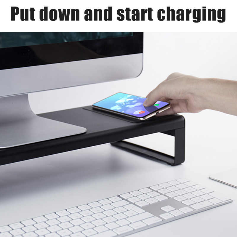 Smart Base Aluminiumlegering Computer Laptop Base Stand Met Usb 3.0 Poort Dq-Drop