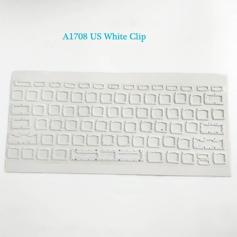 """A1708 клавишная крышка с белым зажимом для Macbook Pro 1"""" retina Key cap US/UK/французский/испанский/немецкий/японский/итальянский/Корейский - Цвет: White Clip"""