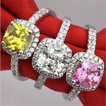 Женское кольцо из серебра с фианитом 5 10 размеров