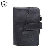 Cow Genuine Cow Leather Men Women Wallet Fashion Coin Pocket Design for disassembly Men Purse High Quality Ladies Card ID Holder