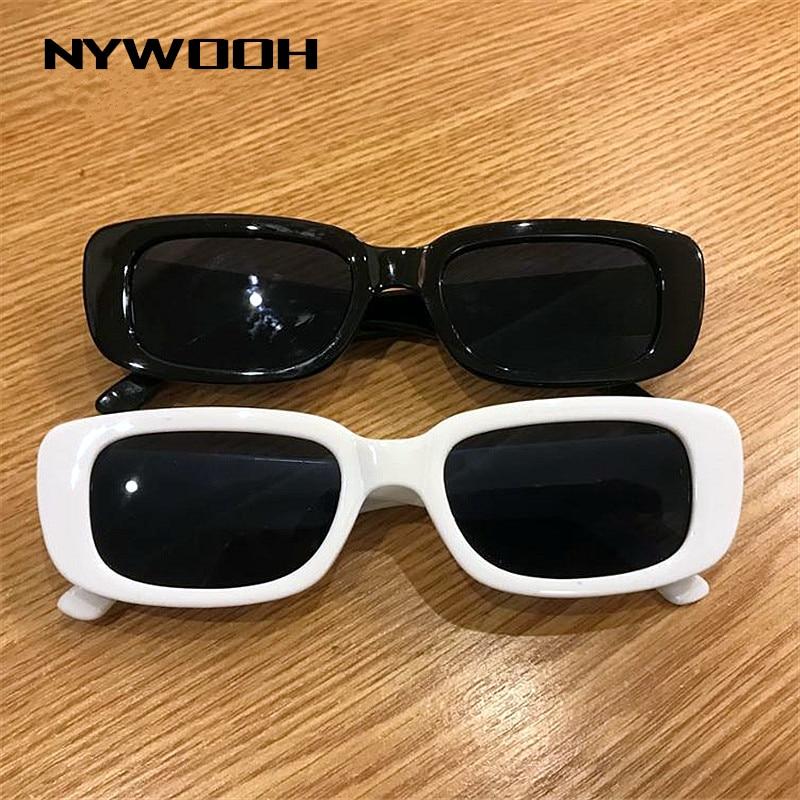 Nywooh 2020 moda vintage óculos de sol designer marca retro retângulo óculos de sol feminino uv400 lente eyewears