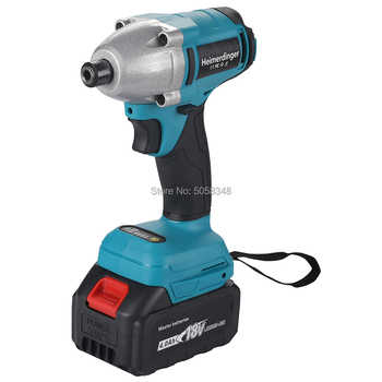 18 Volts cordless impact driver drill 1/4 inch 6.35mm brushless impact drill impact srewdriver drill with one battery