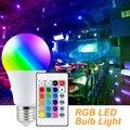 Led RGB светильник с регулируемой яркостью, E27 Смарт Управление лампа AC85-265V Светодиодная лампа RGBW Красочные Изменение светодиодные лампы лампа...