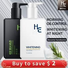 Foam-Cleanser Whitening Acne Moisturizing Face Men's Brighten 1-Hearn 400g Oil-Control