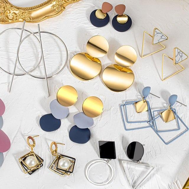 Women's Earrings  Acrylic Drop Earrings  Statement Geometric 2