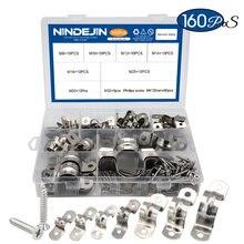 Nindjin 160 шт/компл u образный ремешок для труб 8 мм 32 Скоба
