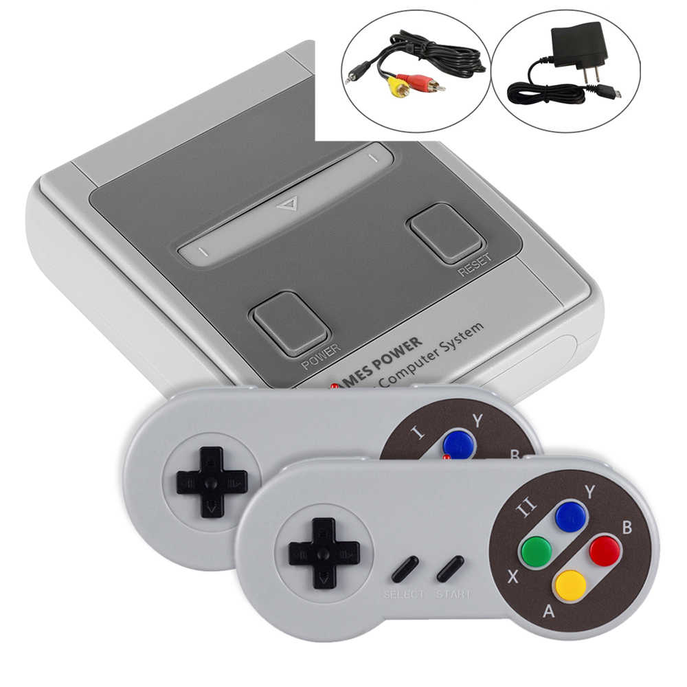 JY02 Classic Family Game Console Mini Handheld TV Video Game Console Dual Gamepad 2.4G Wireless Controller Built-in 557 Games