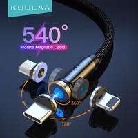 KUULAA cavo USB magnetico cavo Micro caricatore USB tipo C per iPhone 12 11 Pro Max Xs X cavo USB a ricarica rapida rotazione 360 ° 180 °