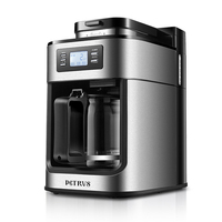 متعددة الوظائف الأمريكية ماكينة القهوة شاشة إل سي دي أوتوماتيكية عرض صانع القهوة الفول طاحونة إسبرسو ماكينة القهوة المنزلية PE3200
