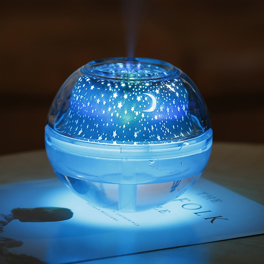 Creative Atmosphere Dreamlike Mini Home Low Noise Star Lamp Crystal Night Light Air Humidfier Diffuser Ultrasonic Mist Maker