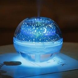 Twórcza atmosfera zjawiskowy Mini domu niski poziom hałasu gwiazda lampy kryształowe światło nocne nawilżacz powietrza dyfuzor ultrasoniczny dyfuzor|Nawilżacze powietrza|AGD -