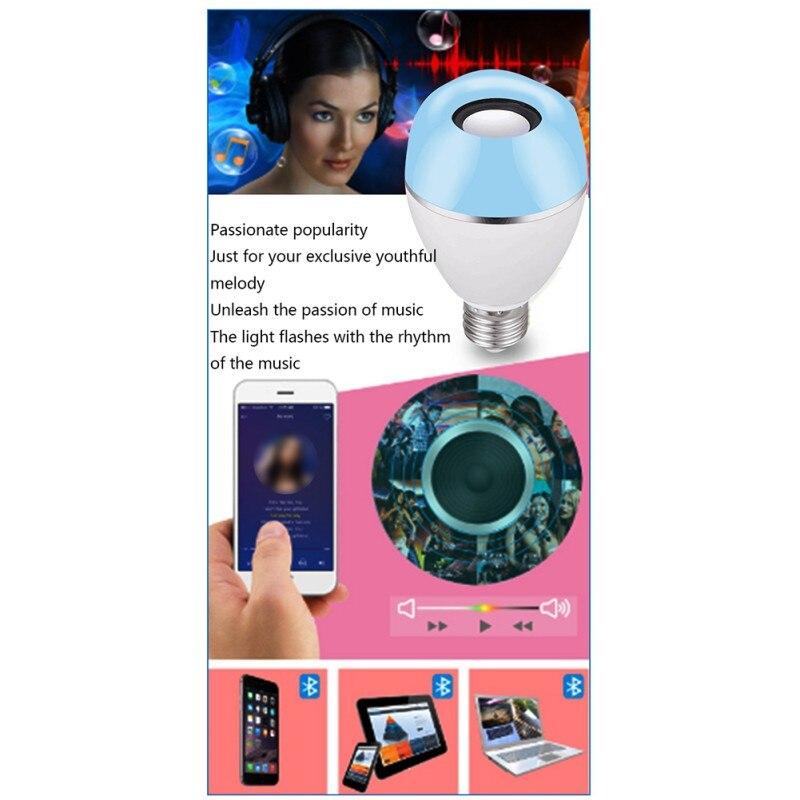 Беспроводная светодиодная лампа динамик RGB умная музыкальная лампа E26 база изменение цвета с дистанционным управлением украшения - 6