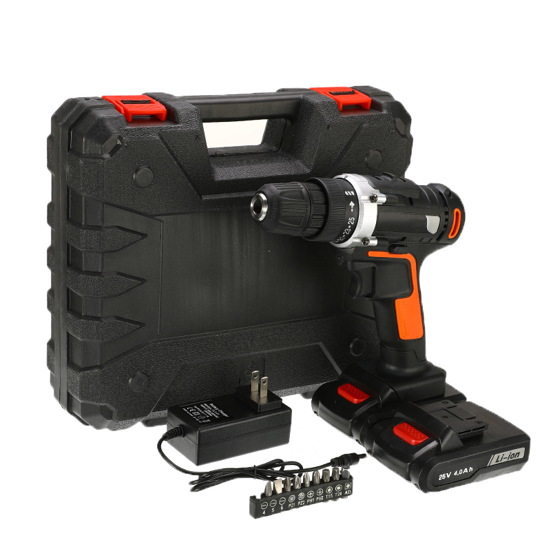 Perceuse électrique 25V deux vitesses batterie au Lithium Rechargeable perceuse sans fil multifonction électrique sans fil tournevis