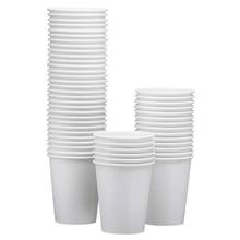 100-Pack 8 унций белые одноразовые бумажные стаканчики-горячие/холодные напитки Питьевая чашка для воды, сока, кофе или чая-идеально подходит для воды C