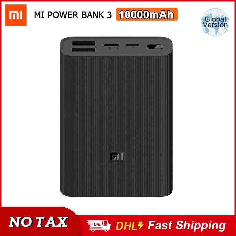 Внешний аккумулятор Xiaomi Mi Power Bank 3, ультракомпактный внешний аккумулятор Mijia емкостью 10000 мАч и мощностью 22,5 Вт для быстрой зарядки, Портативное двухстороннее быстрое зарядное устройство Usb c|Внешние аккумуляторы|   | АлиЭкспресс