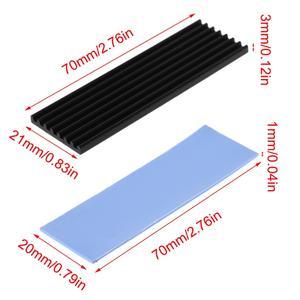 Pure Aluminum Cooling Heatsink Thermal Pad For N80 NVME M.2 NGFF 2280 PCI-E SSD R9JA