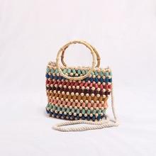 New color handmade beaded children's bag hand ladle shoulder messenger