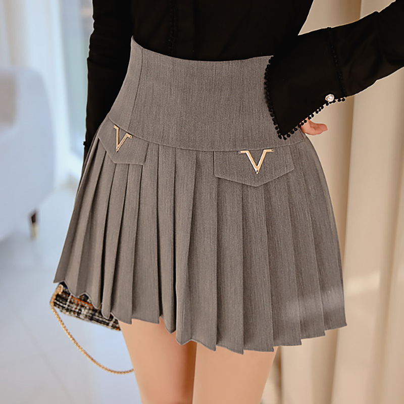Skirt 2020 Spring Clothing New Products Korean-style Elegant By Age High-waisted Slim Fit Slimming Pleated Skirt Base Skirt
