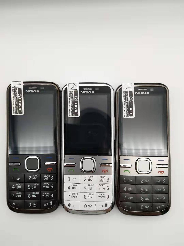 C5-00i Original Phone Unlocked Nokia C5 C5-00 Cell Phones GSM 3G 3Mp Camera FM GPS Bluetooth Refurbished Free Shipping