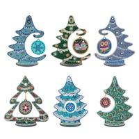 Pintura de diamante artesanal 5D, mosaico de árbol de Navidad para manualidades de cristal, Kit de pintura de diamante, adornos para el hogar, regalos, decoración del hogar de Año Nuevo 2022