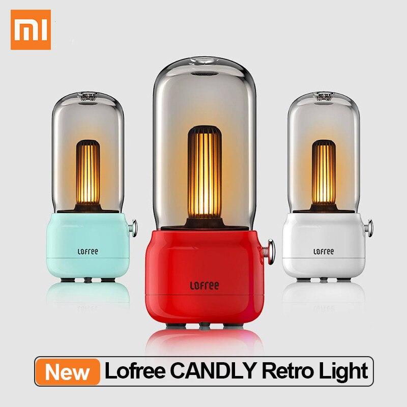 Nouveau Xiaomi Mijia Lofree CANDLY rétro lumière USB charge/support de charge luminosité réglable 1800k lumière LED bougie