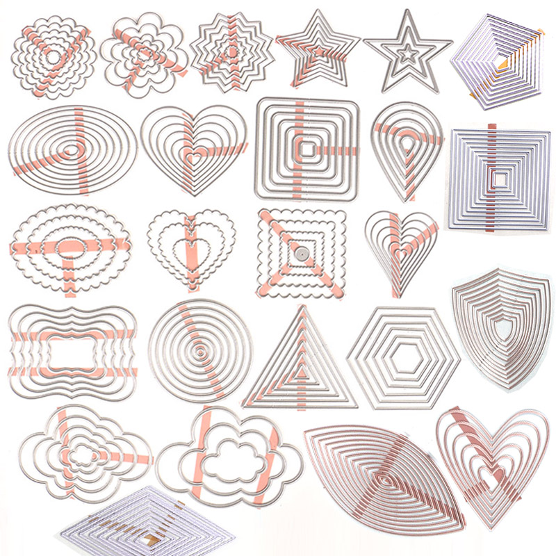 DUOFEN METAL CUTTING DIES Basic Shapes Tags And Labels For DIY Papercraft Projects Scrapbook Paper Album Greeting Cards