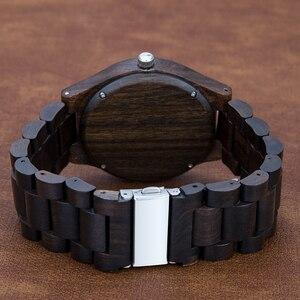 Image 2 - Montre en bois de marque Design rétro élégant bois montres japon citoyen mouvement hommes montres à Quartz cadeau pour hommes
