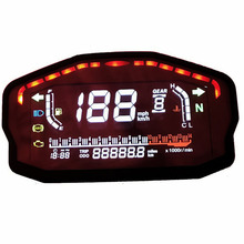 Digital Odometer Professional Motorcycle Water Temperature Universal LCD Screen Speedometer Auto Tachometer For 2 4 Cylinders saipwell gm1361 2 5 inch screen digital temperature