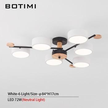 BOTIMI Indoor LED Chandelier For Master Bedroom Modern Wooden Study Room Lustres Ceiling Mounted Living Room Chandeliers 17