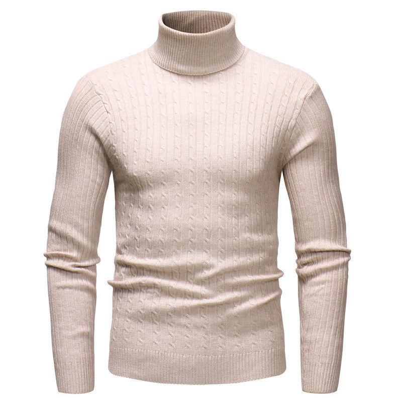 Arrival Winter Men Slim Warm Solid Knit High Neck Pullover Jumper Sweater Turtleneck Sweaters