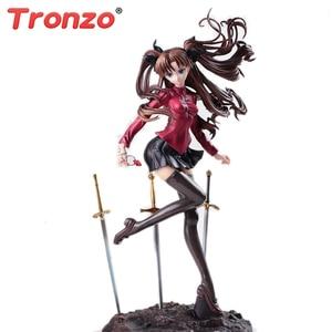 Image 1 - Tronzo фигурка Fate Stay Night Unlimited Blade Works Tohsaka Rin UBW ПВХ фигурка Коллекционная модель куклы игрушки подарки