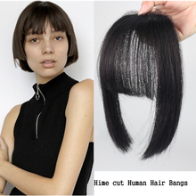 Remy Human-Hair-Bangs Hime Cut Clip-In Bangs-Fringe Salonchat Straight Hairpiece