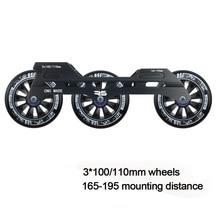 JEERKOOL Inline Slalom Rutsche Roller Skates Rahmen 3*100/110mm Räder Aluminium Legierung Skating Basis MPC FIRMA rad Skates Becken DJ50