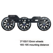 JEERKOOL Inline Slalom Slide Roller Skates Frame 3*100/110mm Wheels Aluminum Alloy Skating Base MPC FIRM Wheel Skates Basin DJ50