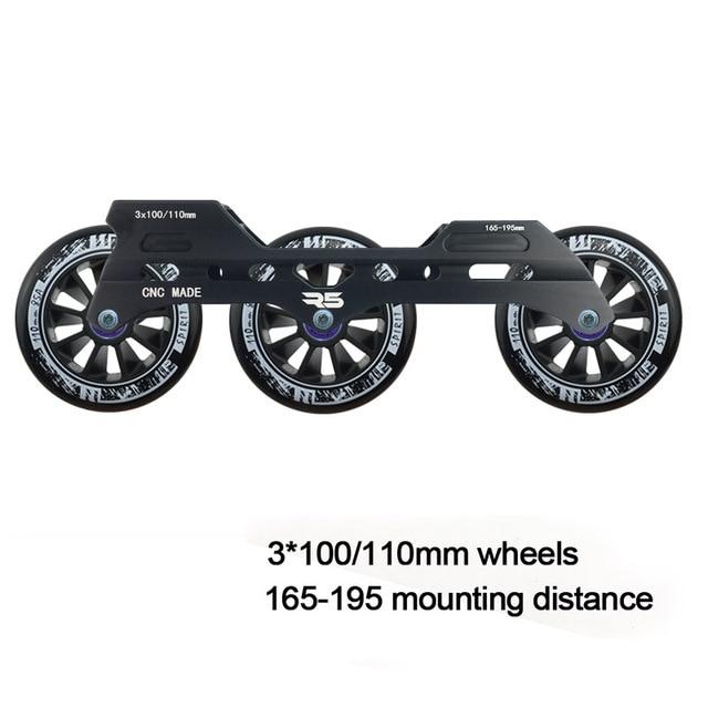 JEERKOOL Roller Slalom Roller cadre 3*100/110mm roues alliage daluminium patin Base MPC ferme roue patins bassin DJ50