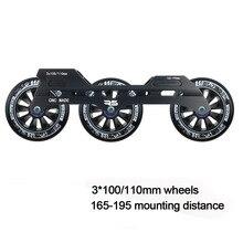 JEERKOOL مضمنة Slalom زلاجات دوارة إطار 3*100/110 مللي متر عجلات سبائك الألومنيوم التزلج قاعدة MPC شركة عجلة الزلاجات حوض DJ50
