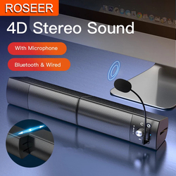 Computer Speakers Detachable Bluetooth Speaker Bar Surround Sound Subwoofer For Computer PC Laptop USB Wired Dual Music Player